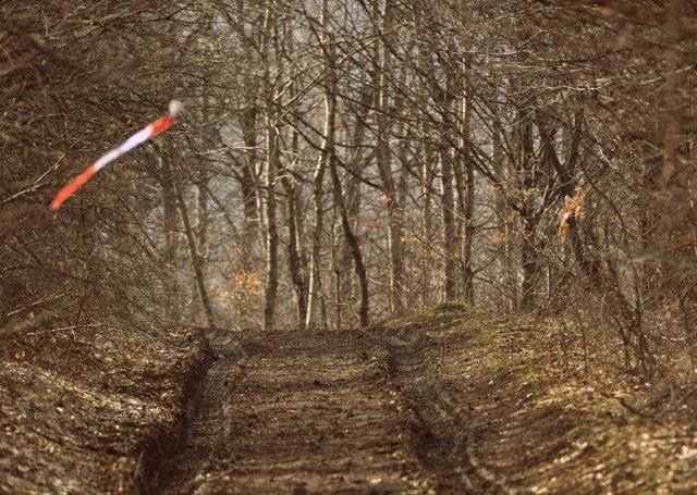 Стандартна маркировка на трасето - лента с червено-бели ивици